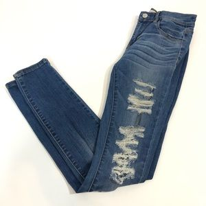 PacSun Jegging with distressing